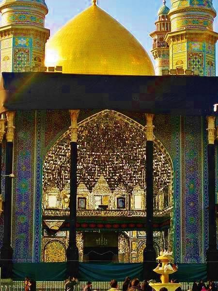 Τέμενος Φατεμέχ, Κομ Ιράν. Μουκάρνας με καθρέφτες