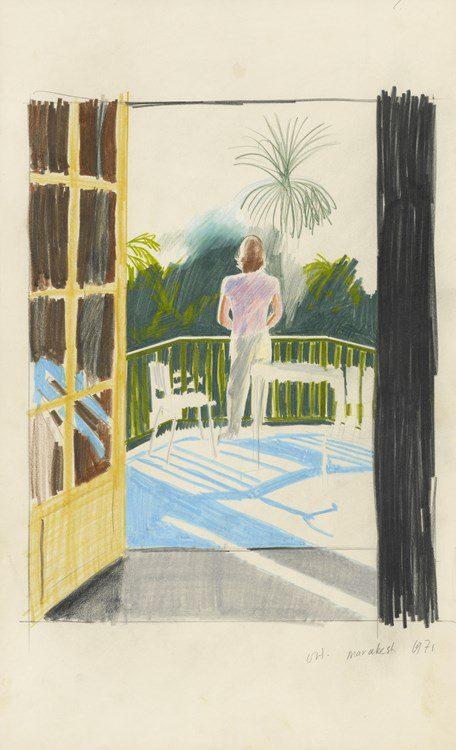DAVID HOCKNEY Peter on Balcony, 1971